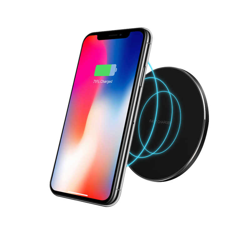 Round QI Wireless Charger Mount Fast Charging Pad Base
